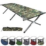 Feldbett DURE XXL 210 x 72 x 45 cm von BB Sport Gästebett Camping-Bett, Farbe:military