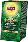 Lipton Grüner Tee & Intensive Minze Pyramidbeutel, 1er Pack (1 x 50g)