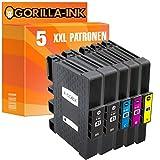 Gorilla-Ink 5 Gel-Patronen XXL kompatibel für Ricoh GC-41 Aficio SG 3110 DN SG 3110 N SG 3110 SFNW SG 3120 B SF SG 3120 B SFN SG 3120 B SFNW SG 7100 DN