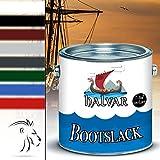 Halvar Bootslack Yachtlack Bootsfarbe Yachtfarbe PU-verstärkt für Holz verstärkt, extrem belastbar und hochelastisch Schiffslackierung (2,5 L, Farblos)