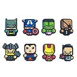 HXDZFX The Avengers Kühlschrankmagnete – 8 Stück Kühlschrankmagnet, Büro-Magnete, Kalender, Whiteboard-Magnete,Perfekt für Ornamente Dekoration Collectionism