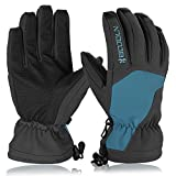 Skihandschuhe, HiCool Ski-/Snowboard-Handschuhe Sporthandschuhe Winterbekleidung Thermohandschuhe für Herren Damen (Blau/Schwarz, L)