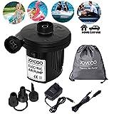Joycoo Elektrische Luftpumpen Luftmatratzen Luftpumpen schnelles aufblasen Inflator Deflator für Pools aufblasbares Spielzeug AC 230V EU Stecker DC 12V Auto Elektropumpe