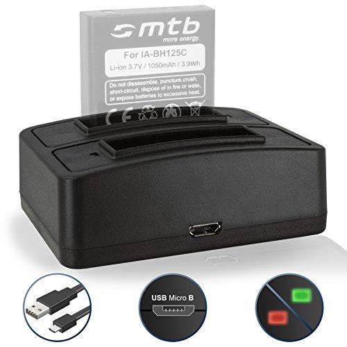 Dual-Ladegerät (USB) für Samsung IA-BH125C / Pentax D-Li106 / Ricoh DB-65 / Sigma BP-41 - kompatible Kameramodelle s. Liste!