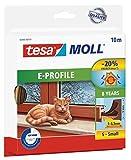 tesamoll Gummidichtung für Fenster und Türen, braun, CLASSIC, E-Profil, 10m