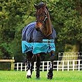 Horseware Amigo Mio Turnout medium black turquoise Weidedecke Winterdecke (155)