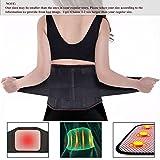 Bauchweggürtel,Charminer Rückengurt Rückenstützgürtel BauchgürtelFitnessgürtel Rückenbandage mit Stabilisierungsstäben+Atmungsaktiv+Schmerzlinderung/Wärmegürtel mit Turmalin+Selbsterwärmende Schwarz L
