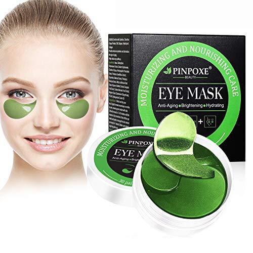 Eye Mask, Augenpads, Anti Aging Augen Patches, Eye Patches, Collagen Augenringe Augenpads, Augenpflege mit Hyaluron, Feuchtigkeit Spendende, Entfernen Taschen, Dunkle Kreise & Puffiness, 60pcs