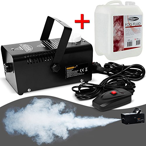 Monzana Nebelmaschine mit 5L Nebelfluid Smoke Fog Effekt Heimnebelmaschine 400W mit Fernbedienung 300ml Tank