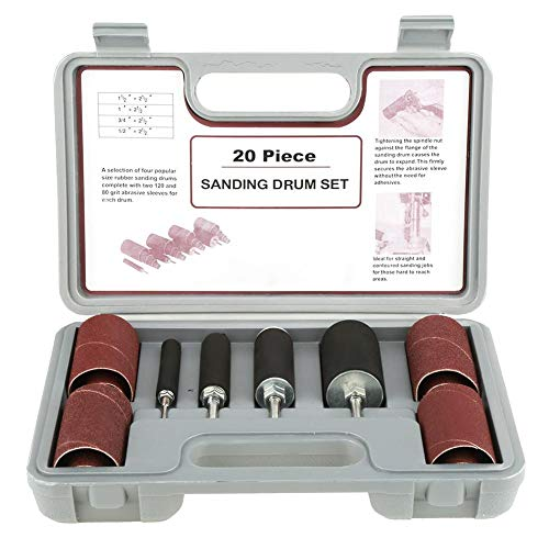 20 Stück Spindelschleifer Schleifmaschine Werkzeugset Schleifhülsen mit Koffer für Bohrmaschine