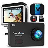 VANTOP Moment 3 Action Cam 4K WiFi Sports Kamera Helmkamera 16MP Wasserdicht Unterwasserkamera Ultra HD 2.26' LCD 170° Weitwinkelobjektiv 32 GB TF-Karte mit 2 Batterien und Kostenlose Zubehör Kits