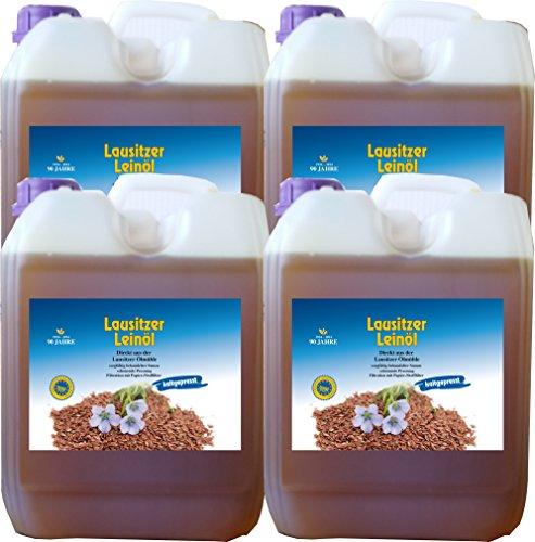 Leinöl 20 Liter (4 x 5 Liter) Lausitzer kaltgepresst ohne Konservierungsstoffe kostenlose Lieferung