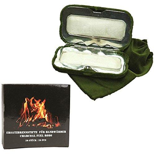 Sparpack Handwärmer + 20 Brennstifte Taschenofen