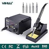 YIHUA Digital Lötstation 937D, soldering station elektronisch temperaturgesteuert LCD-Anzeige regelbar von 200-480C° 45W mit 6 Lötspitzen, Lötset für Schule Labor Hobbylöten