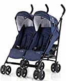 Knorr-baby 832200 Geschwisterwagen Side by Side, navy blue