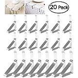 OUNONA 20 stücke Tischtuchklammern Edelstahl Klammern für Tischdecken