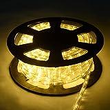 COSTWAY 20M LED Lichterschlauch Lichtschlauch Lichterkette für Außen und Innen mit 720 LEDs Weihnachtsbeleuchtung Weihnachten Deko (Warmweiß)