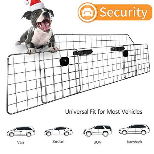 Sailnovo Universal Kofferraum Trenngitter für Hunde - Netze Gitter Hundegitter Auto Schutzgitter - Verstellbar Hundeschutzgitter Kopfstützen Gepäckgitter