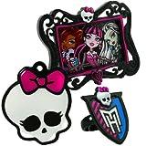 Monster High Tortendeko-Set, mit Bilderrahmen und Dekoring, 3-teilig