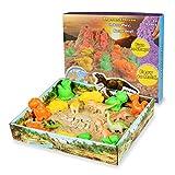Weeygo Magic Sand Playset Magischer Super Sand für Dinosaurier mit Geometrischen Schimmel