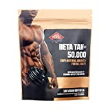 BETA TAN+ / 50.000 IE Beta Carotin pro Dosis - 180 vegane Softgels - 100% natural bronzer for all skins