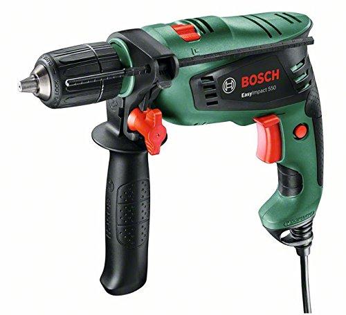 Bosch Schlagbohrmaschine EasyImpact 550 (Zusatzhandgriff, Tiefenanschlag, Koffer, 550 Watt)