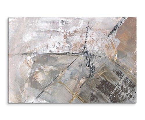 120x80cm Leinwandbild Leinwanddruck Kunstdruck Wandbild grau schwarz weiß Schlieren