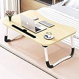 Verstellbarer Laptop-Betttisch Lap Stehender Schreibtisch für Bett und Sofa Laptop Lap-Schreibtisch Folding Frühstück Serviertablage Notebookständer Lesehalter für Couchboden Kids (60 x 40 cm)