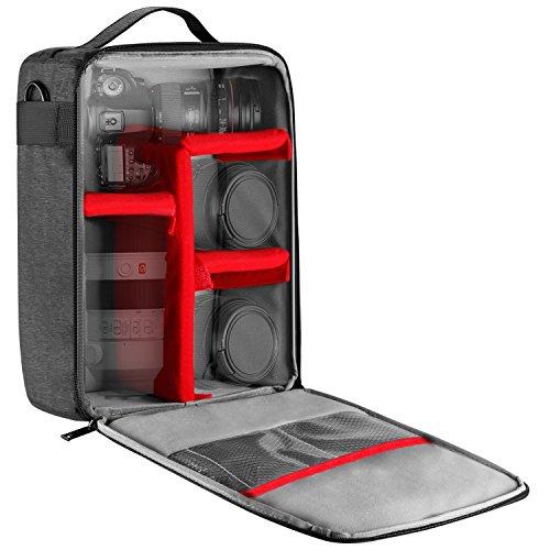 Selighting SLR Kameratasche Wasserdicht Kamera-Einsatzes Schutztasche für DSLR Canon Nikon Sony Grau (Grau)