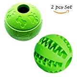 Hundespielzeug Intelligenz Snack Ball aus Naturkautschuk Gummi Hunde Training Bälle Ø 7.6-8cm Grün
