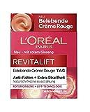 L'Oréal Paris belebende Feuchtigkeitscreme mit Glow Effekt, für müde Haut und müde Augen, Revitalift Crème Rouge, 50 ml