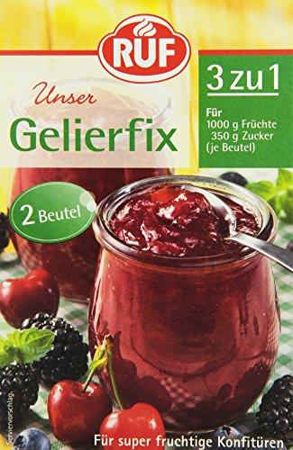 RUF Gelierfix Gelierpulver, 17 mal 2er Pack, (17 x 2 x 25g)