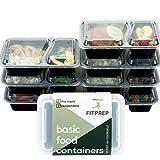 [7er Pack] Original FITPREP 2-Fach Meal Prep Container | Modell 2017 | Stapelbar, Wiederverwendbar, Spülmaschinenfest, Mikrowellen-, Gefrierschrankgeeignet | neuer, verstärkter Deckel | Bento Box | Lunchbox