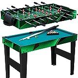 Spieletisch 10 in 1 / Multigame Tisch / Multifunktionsspieltisch / Multifunktionstisch / Kicker / Kickertisch / Billard / Tischtennis / Hockey