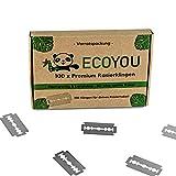 EcoYou Premium Rasierklingen für Rasierhobel set 100 Klingen  rostfreie Ersatzklingen für Rasierhobel Damen und Herren  Hochwertige Rasier Klingen langlebig - Razor Blades
