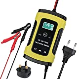 Batterie Ladegerät Auto, 6A 12V Batterieladegerät Auto Erhaltungsladegerät mit Mehrfachschutz für Autobatterie, Motorrad, Rasenmäher oder Boot