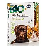 Pess Bio-Spot On - Natürliches Mittel gegen Zecken und Flöhe - Zeckenschutz für Hunde und Katzen auf Biologischer Basis - 4 x 2,5g Pipetten
