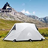 HEWOLF Zelt 2 Person - Zelt Wasserdicht 3000MM+ - Camping Zelt Instant - 3-4 Jahreszeit Professionelles Abenteuerze