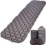 JÖKEL Isomatte Camping, Schlafmatte Leicht kleines packmaß, Aufblasbare Bequem Luftmatratze, Grau Faltbar und Kompakt, Ultraleicht-e, Trag und Klappbar Liegematte, für Outdoor Wandern und Camping