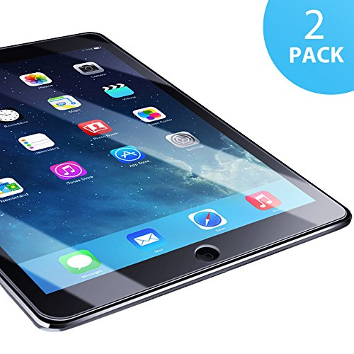 iPad Air 1/ Air 2/ iPad Pro 9.7 Panzerglasfolie - 2 Stück, SUERW Schutzfolie für iPad Air 1/ Air 2/ iPad Pro 9.7 [0,33 mm HD Ultra,9H Härtegrad]