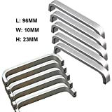 10 Stück Lochabstand - 96mm Solide Material Aluminiumlegierung Möbel Griffen Kabinett Griffe Möbelgriffe Knöpfe Türgriffe