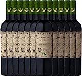 12er Paket - Doppio Passo Bio Primitivo Puglia IGT 2018 - CVCB mit VINELLO.weinausgießer   halbtrockener Rotwein   italienischer Bio-Wein aus Apulien   12 x 0,75 Liter
