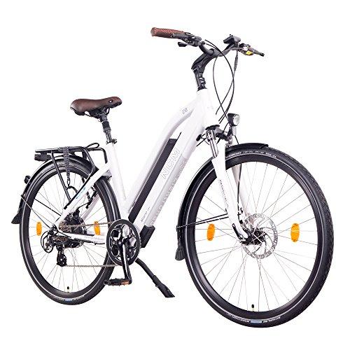 NCM Milano 48V, 26'/28' Zoll Damen & Herren Urban E-Bike Elektrofahrrad Pedelec, 250W Das-Kit Heckmotor, 13Ah 624Wh Li-Ion Zellen Akku, Mechanische Scheibenbremsen, 7 Gang Schaltung (28' Weiß)