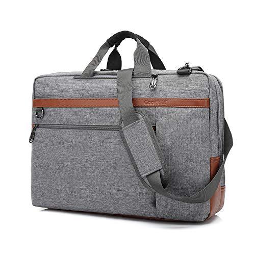 CoolBell umwandelbar Laptop Tasche Messenger Bag Herren Aktentasche Umhängetasche Multifunktionale Businesstasche Reisen Rucksack passend für 15-15,6 Zoll MacBook Notebook(Grau)
