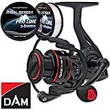 DAM Quick FZ FD Spinrolle Angelrolle + gratis 0,35mm Pro Line x-treme Schnur (400)