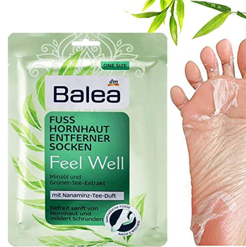 Balea Hornhaut-Entfernersocken Feel Well, 1 Paar (1 x 2 Stück) Hornhaut Socken, Hornhaut Entfernung Socken
