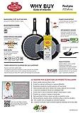 Ballarini New Positano Stielkasserolle 16 cm PS1L0.16 aus Aluminium antihaftbeschichtet induktionsgeeignet Made in Italy