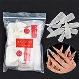 600 Stücke Lange Stiletto Nagelspitzen Falsche Nägel - Künstliche Fingernägel Scharfe Kunstnägel Tips Nägel für DIY-Nagelkunst und Nagelstudio - Natürliche #3