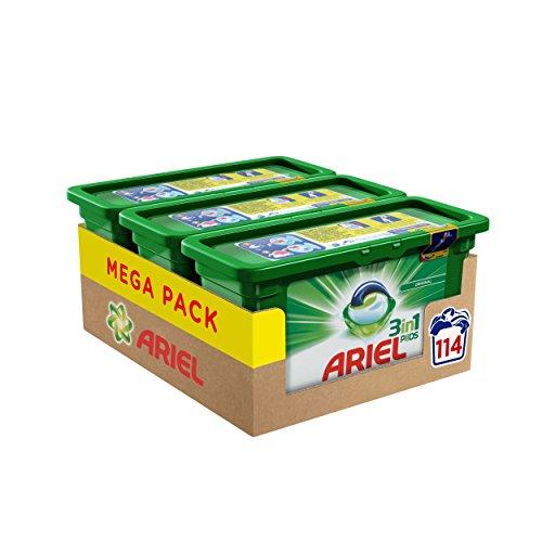 Ariel 3in1 Pods Vollwaschmittel, 114 Waschladungen, Vorratspack