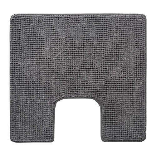 IKEA Toilettenmatte 'TOFTBO' flauschiger WC-Vorleger - saugstarke Mikrofaser - 55x60 cm - maschinenwaschbar - div. Farben (grau)